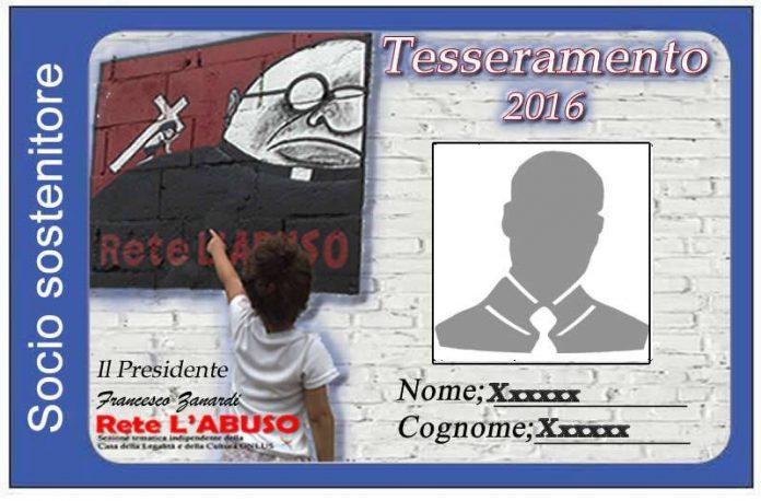 RETE L'ABUSO ONLUS / Al via il tesseramento 2016