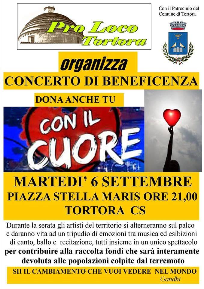 Tortora, stasera in piazza Stella Maris il concerto di beneficenza a favore dei terremotati
