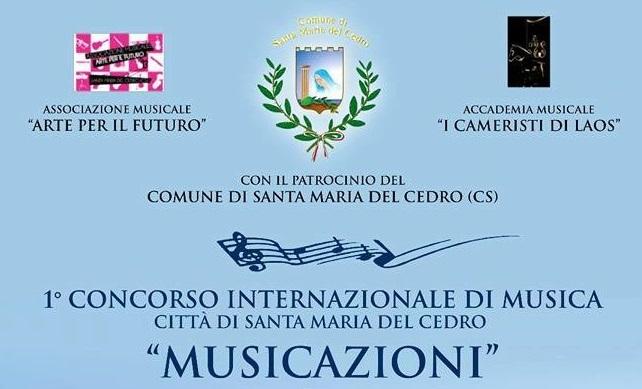 Santa Maria del Cedro (Cs) | Concorso internazionale MusicAzioni, ecco il bando per la partecipazione