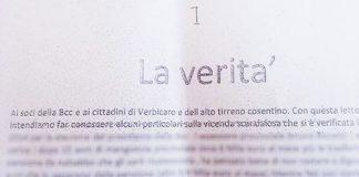 Caso Bcc di Verbicaro, diffusa lettera diffamatoria nei confronti della cronista che rivelò indagine