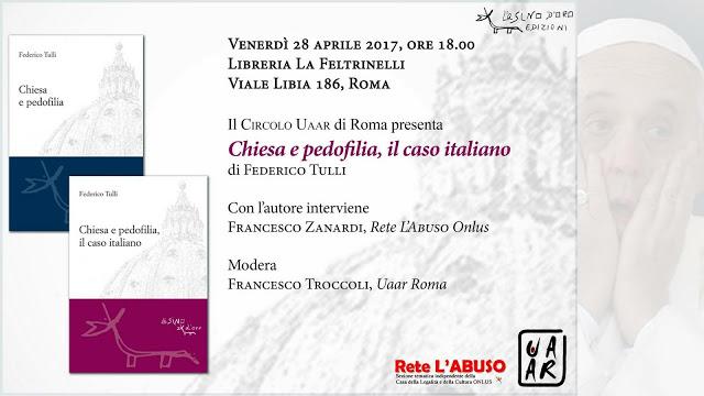 'Chiesa e pedofilia, il caso italiano', Tulli e Zanardi presentano il libro di cui nessuno vuole parlare