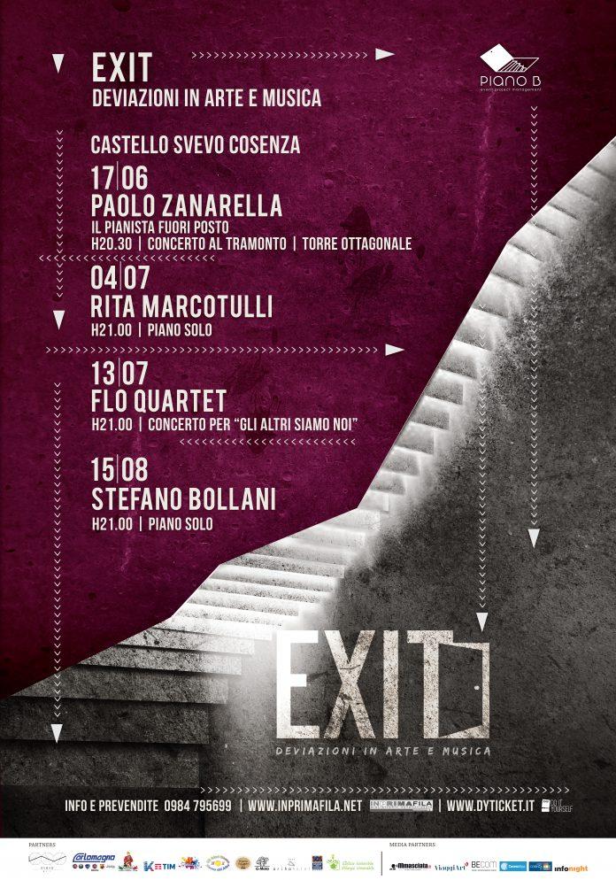 Cosenza | Piano B rende noto il calendario eventi di 'Exit. Deviazioni di arte e musica', in programma dal 17 giugno