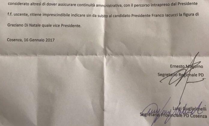 Provincia di Cosenza | Deleghe ai consiglieri: il documento esclusivo del grande bluff di Iacucci, di Magorno e Guglielmelli ai danni di Di Natale