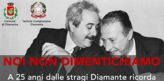 Diamante | Domenica il ricordo di Falcone e Borsellino con il ministro Minniti, l'onorevole Magorno e il Procuratore Bruni