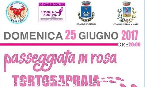 Passeggiata in Rosa, da Tortora a Praia per i fondi della ricerca contro il tumore al seno