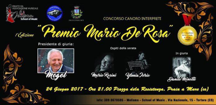 Praia a Mare (Cs) | Premio Mario De Rosa, meno sette giorni al 'Festival della canzone' presieduto da Mogol