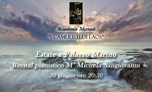 Santa Maria del Cedro (Cs) | Estate a Palazzo Marino, domani sera il concerto della pianista Michela Sangiovanni