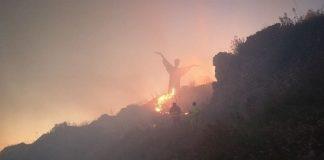 Maratea (Pz) | Incendio di probabile natura dolosa nella notte ha minacciato la statua del Cristo di Maratea