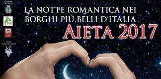 Aieta (Cs) | Dopo il successo dello scorso anno, il 24 giugno torna 'La notte romantica'