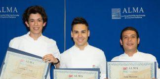 Corso superiore cucina scuola internazionale Alma, si diplomano tre giovani calabresi