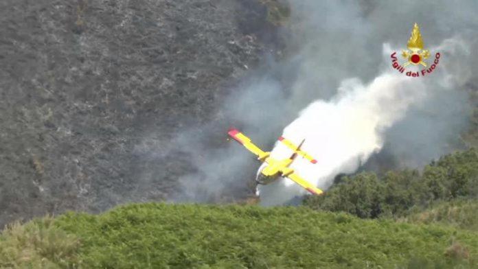 Anche oggi la Calabria flagellata dagli incendi, 6 velivoli impegnati in 22 roghi