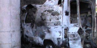 Tortora (Cs), nella notte ambulanza medicalizzata divorata dalle fiamme