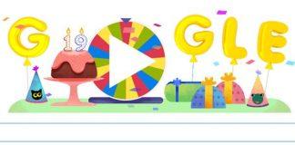 Oggi Google compie 19 anni e si autocelebra in un doodle