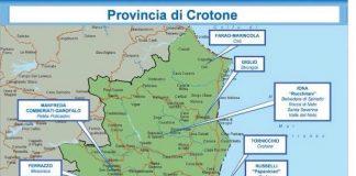 Relazione Dia, 2° semestre 2016: mappa 'ndrine calabresi - provincia di Crotone