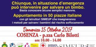 Cosenza, il 15 ottobre in piazza Bilotti l'evento 'Una manovra per la vita'