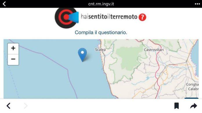Scossa di terremoto di magnitudo 3.7 al largo di Scalea