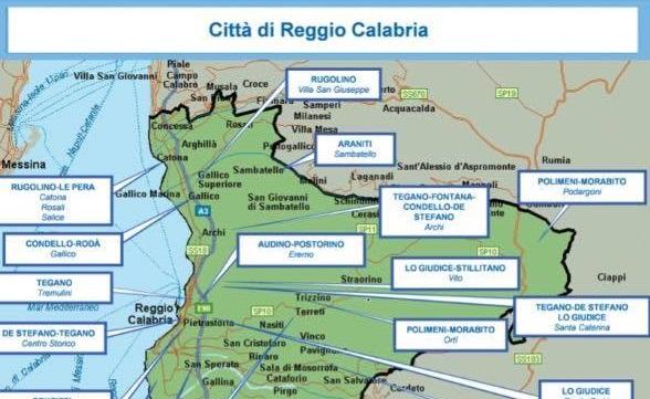 Relazione Dia, 2° semestre 2016: mappa 'ndrine calabresi - mandamento centro