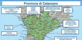 Relazione Dia, 2° semestre 2016: mappa 'ndrine calabresi - provincia di Catanzaro