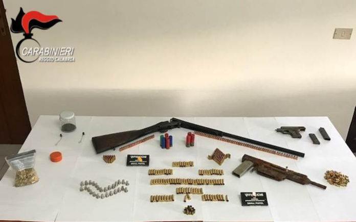 Nascondeva pistola e munizioni, arrestato disoccupato a Meontebello Jonico