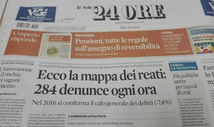 Reati e criminalità, i dati del Sole 24 Ore: la Basilicata è ancora un'isola felice