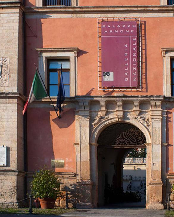 Cosenza, Galleria Nazionale, innagurazione della mostra Polopositivo