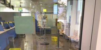 Praia a Mare, ufficio postale si allaga per la pioggia: chiuso