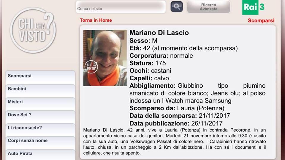 Scheda Mariano Di Lascio
