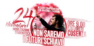 Cosenza, studenti di nuovo in piazza il 24 novembre contro la scuola di classe