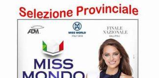 Tortora 'regina di bellezza', il 14 gennaio selezioni provinciali di Miss Mondo Italia