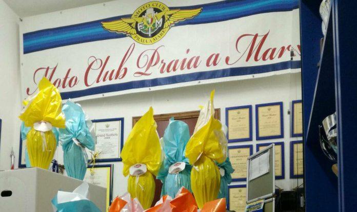 Il Motoclub Praia a Mare consegna le uova di Pasqua ai bambini malati del San Carlo di Potenza