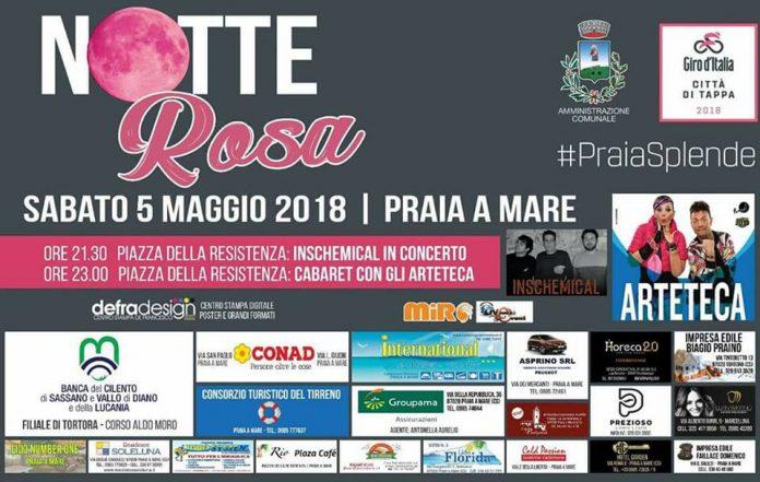 A Praia a Mare è tutto pronto per la 'Notte rosa' del 5 maggio