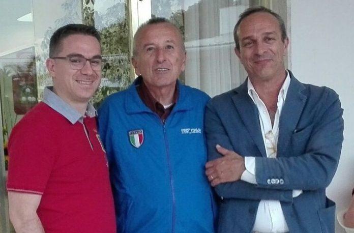 Scalea, Tiziano Zanetello, presidente Fiso, visita i luoghi della tappa di 'Coppa Italia di Orienteering' 2019