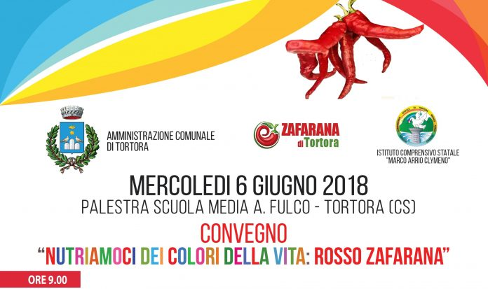 Tortora, il 6 giugno il convegno 'Nutriamoci dei colori della vita - Rosso zafarana'