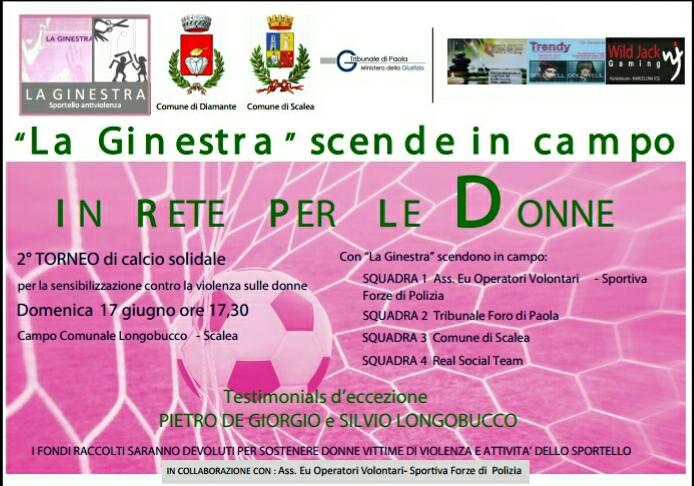 Scalea, contro la violenza sulle donne il torneo solidale organizzato da La Ginestra Sportello Antiviolenza