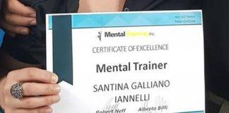 Cetraro, 'Certificate of Eccellence Mental Trainer' a Santina Iannelli Galliano