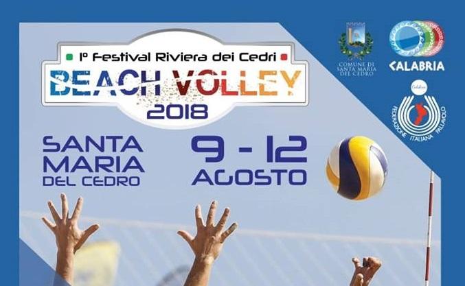 Beach volley, 1° Festival della Riviera dei Cedri: 9-12 agosto a Santa Maria del Cedro