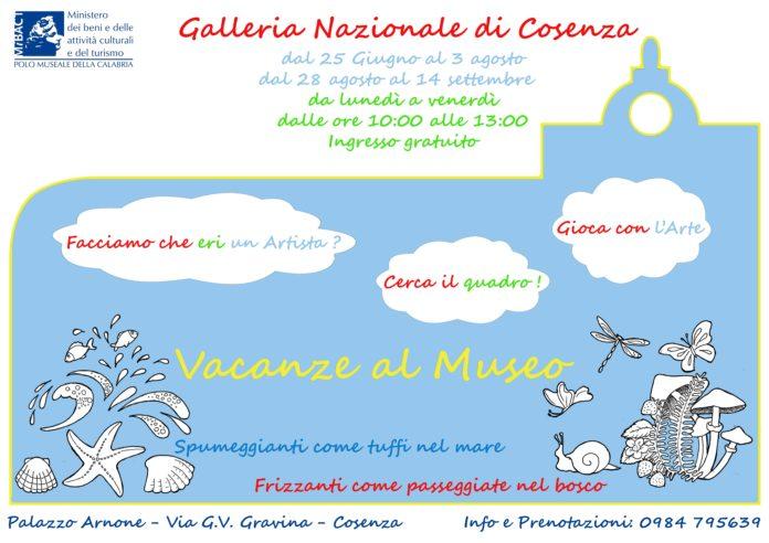 Galleria Nazionale di Cosenza, sono iniziate le 'Vacanze al Museo'