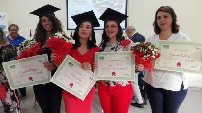 Prime 'lauree' all'Università del Volontariato di Cosenza