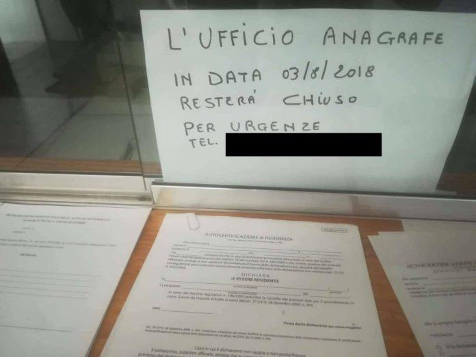 Lettere alla redazione: «A Verbicaro l'ufficio anagrafe resta chiuso il 3 agosto»