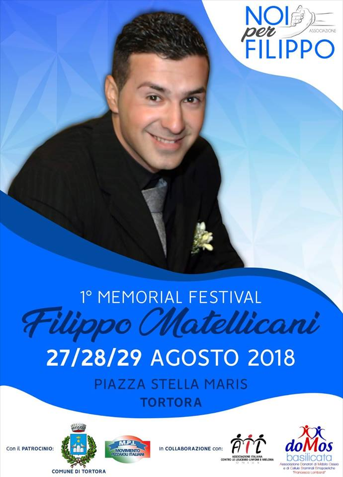 Tortora: 27, 28 e 29 agosto il primo memorial dedicato a Filippo Matellicani