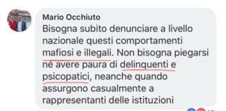 Parole denigratorie di Occhiuto al M5s, Melicchio replica: «Il bue chiama cornuto all'asino»