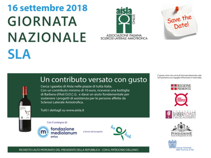 Giornata nazionale della Sla, 4 piazze Calabria: c'è anche Cosenza