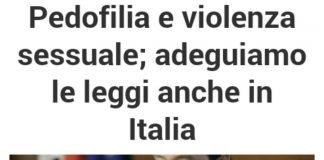 Pedofilia e violenza sessuale, Francesco Zanardi promuove una petizione per chiedere adeguamento delle leggi