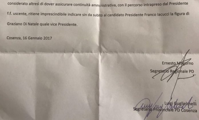 Provincia di Cosenza   Deleghe ai consiglieri: il documento esclusivo del grande bluff di Iacucci, di Magorno e Guglielmelli ai danni di Di Natale