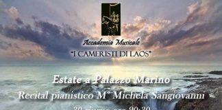 Santa Maria del Cedro (Cs)   Estate a Palazzo Marino, domani sera il concerto della pianista Michela Sangiovanni
