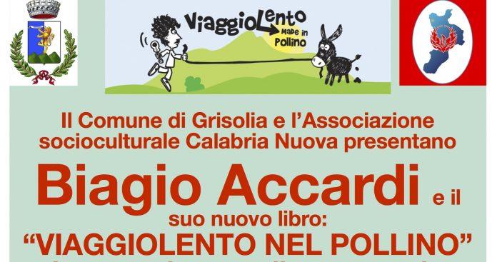 Grisolia (Cs) | Questa sera la presentazione del libro 'Viaggiolento' di Biagio Accardi