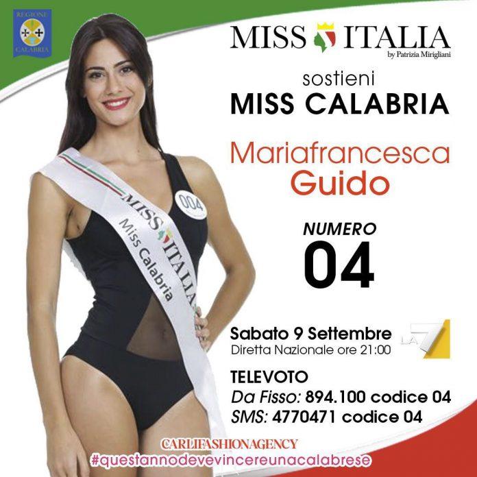 A Miss Italia 2017 la Calabria avrà il volto di Mariafrancesca Guido, ecco come votarla