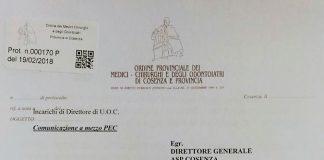 Querelle Bernaudo-Mauro, spunta il documento che sbugiarda il dg dell'Asp cosentina