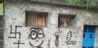 Svastica sui muri a Sant'Agata d'Esaro, il sindaco: «Imbecilli ovunque, preoccupiamoci»
