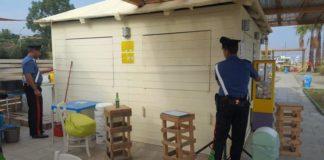 Sequestrate strutture abusive all'interno di stabilimenti balneari del Cosentino